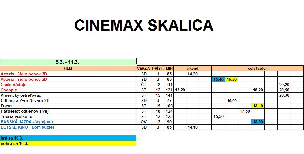 62b170dee Program kina CINEMAX Skalica 5.3 - 11.3.2015